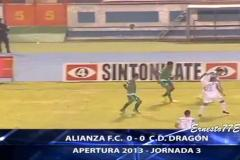Skrót Alianza FC <b>0-0</b> CD Dragons