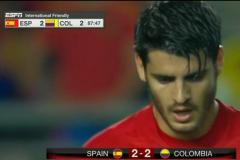Skrót Spain <b>2-2</b> Colombia