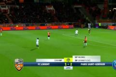 Skrót Lorient <b>1-2</b> Paris Saint-Germain