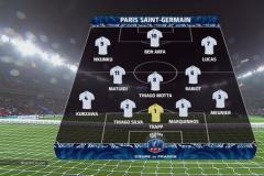 Skrót Paris Saint-Germain <b>7-0</b> SC Bastia